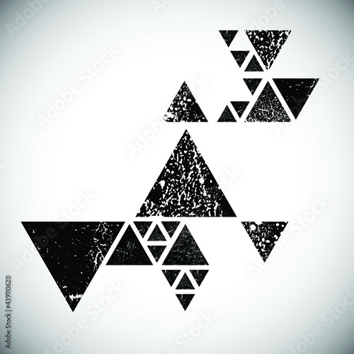 Abstract triangle geometrical background . Modern triangular lines logo . Vector. Wall mural