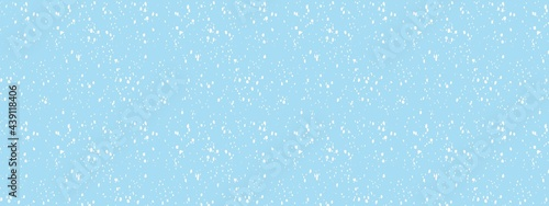 Valokuva snowfall in grey blue sky, abstract snow background, christmas background in win
