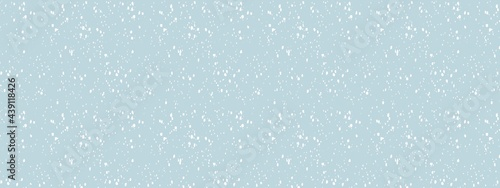 Canvas-taulu snowfall in blue grey sky, abstract snow background, christmas background in win