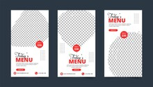 Restaurant Menu Business Flyer With Red Shade, Restaurant Menu Banner Design With Food Photo Slot, Menu Design.