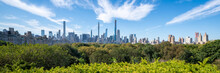 Central Park And Manhattan Skyline Panorama In Summer, New York City, USA