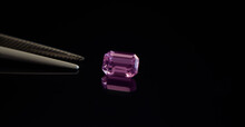 Amethyst Is A Purple Gemstone Placed On The Ground.