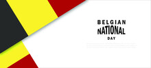 Belgium National Day Vector Illustration.
