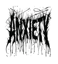 Anxiety Slogan T Shirt Print Design Hand Drawn Custom Typography Inspired From Metal Music