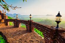 Beautiful Sunrise View At Khao Na Nai Luang Dharma Park In Surat Thani, Thailand