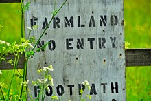 Close Up Of Private Land Sign