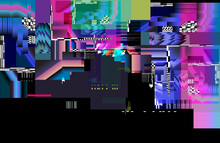 A Screen Glitch Noise Background. Display Lag Texture Vector Illustration.
