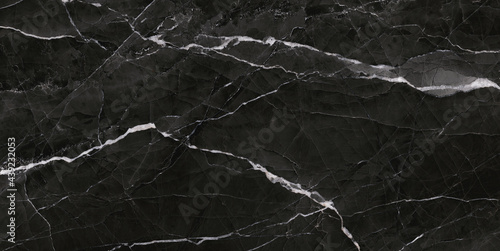 natural dark gray marble texture with italian slab marble stone for interior exterior home decoration and ceramic tiles surface Fototapet