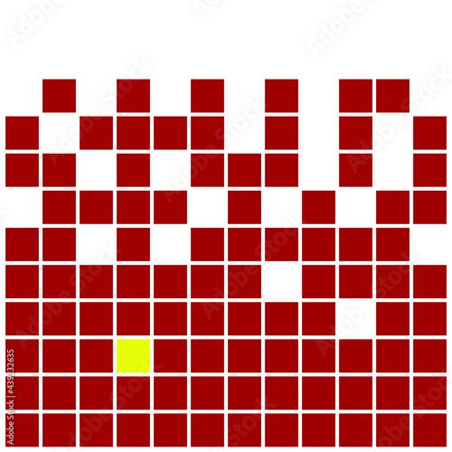 Tapety Futurystyczne  czerwony-kwadrat-wzor-tla-wektor