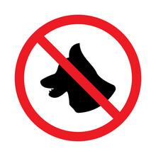 No Animal Allowed Sign Icon Vector