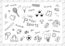 スポーツ 手描き素材集