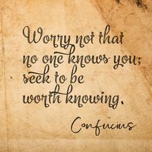 Worth Knowing ConfuciusSQ