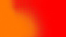 Dots Halftone Orange Color Pattern Gradient Texture With Technology Digital Background. Dots Pop Art Comics With Summer Background.