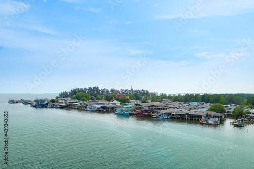Fototapeta Scenery from Prasae Sin Bridge Viewpoint.