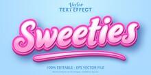 Sweeties Text Cartoon Style Editable Text Effect