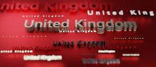 Abstract United Kingdom 3D TEXT Rendered Poster (3D Artwork)