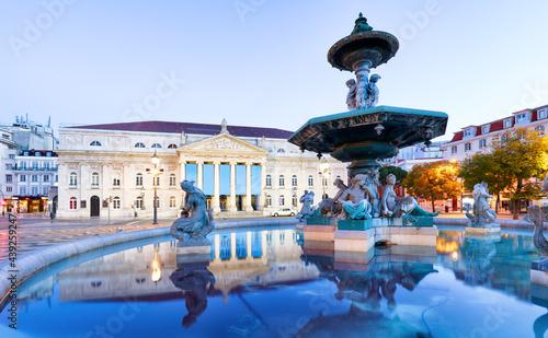 Fotografie, Obraz Lisbon, Portugal at Rossio Square