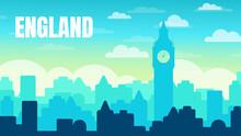Illustration, Postcard Travel In England. UK, Big Ben.