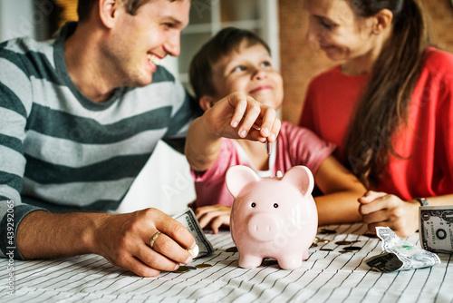 Fotografie, Obraz Kid saving money for the future