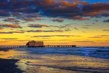 Sunrise Above Daytona Beach Main Street Pier, Florida