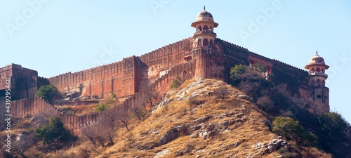 Canvas Amber or Amer fort near Jaipur city Rajasthan India