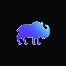 Bison Blue Gradient Vector Icon