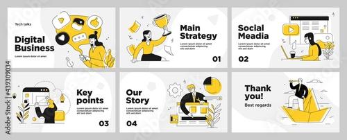 Fotografia Presentation and slide layout background