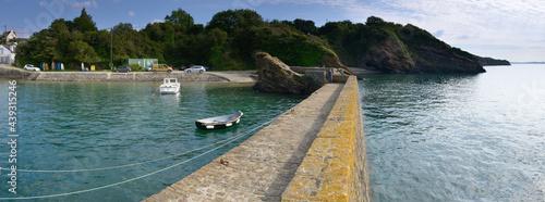 Stampa su Tela petit port de plaisance rustique en vue panoramique sur la rade de Brest en Fran