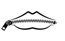Zipped Lips Line Icon. Clipart Image Isolated On White Background