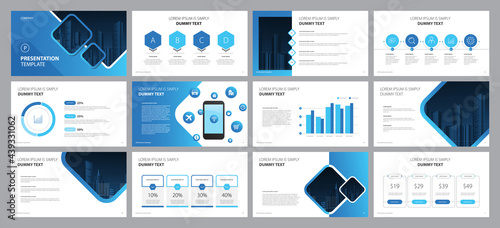Fotografia business presentation template design backgrounds and page layout design for bro