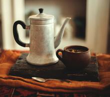 Comfort Tea Coffee Pot Retro Vintage House Hugge