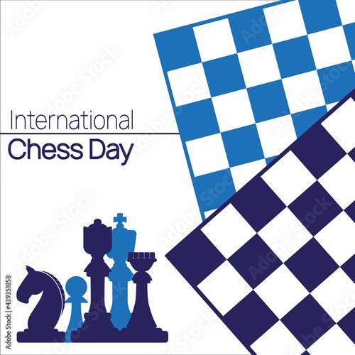 International Chess Day banner Poster Mural XXL