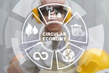 Industry Concept Of Circular Economy.