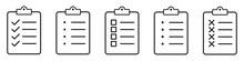 Clipboard Icon Symbol Set Simple Design