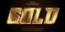 Editable Text Effect, Luxury Gold Text On Dark Textured Background