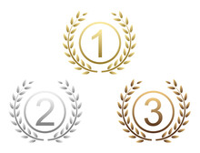 Icons For The Championship From Numbers One To Three
