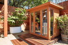 Infrared Sauna In Back Yard