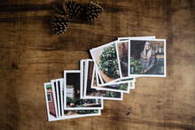 Photo Prints On A Table