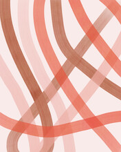 Pink And Brown Abstract Lines