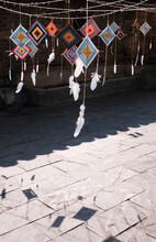Hand-woven Mandala Dream Catcher Pattern, Hung In The Yard Under The Sun