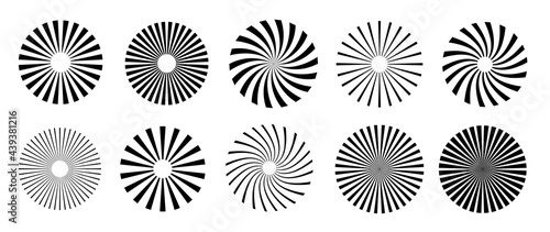 Fotografija Sunburst element radial stripes or sunburst backgrounds