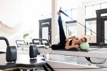 Fit Woman Stretches