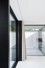 Big Windows And Curtain