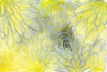 Yellow And Grey Abstract Art