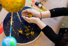 Little Hands With Gold Stars Glitter