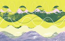 Wide Format Vibrating Sound Wave