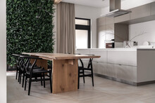 Interior Of Modern House With Kitchen Zone