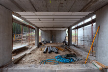Interior Of Unfinished Building Under Construction