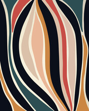 Minimal Abstract Stripes In Jewel Tones