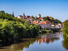Panoramablick über Die Stadt Bernburg In Sachsen-Anhalt